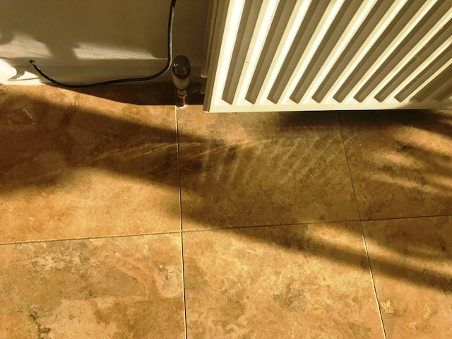 Travertine Floor in Durham After Cleaning